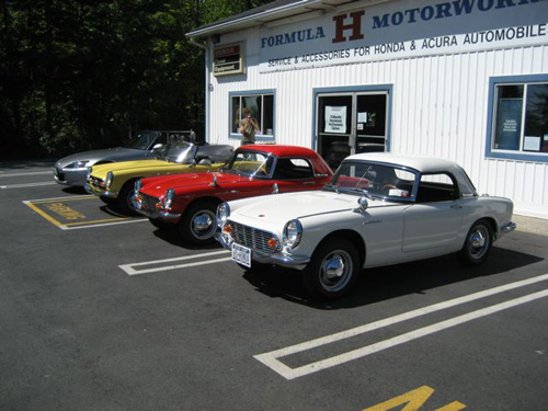 Formula H Motorworks in Middletown, NY, Row of S - old and new