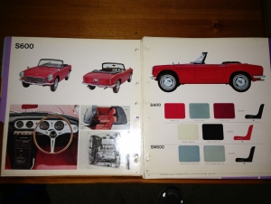1965 Honda JDM Dealer Showroom Sales Catalog S600,
