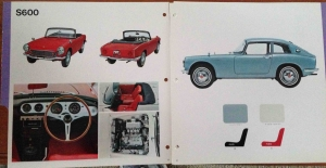 1965 Honda JDM Dealer Showroom Sales Catalog S600