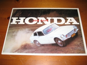 Honda S600 Coupe Original Sales Brochure