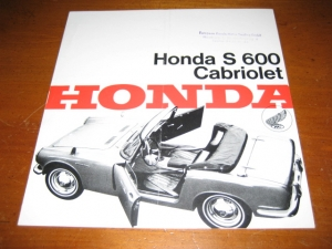 Honda S600/S600 Coupe Original Sales Brochure