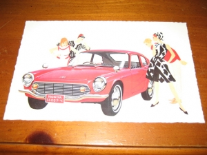 Honda S600 Coupe Original Service Post Card
