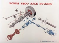 Honda S800 Axle Housing Poster